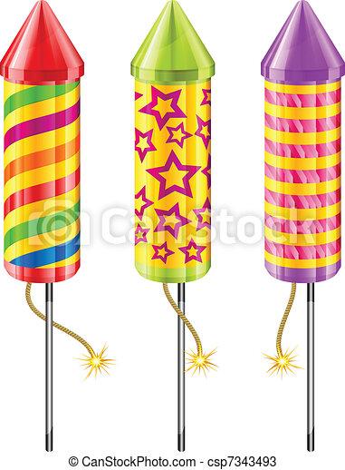 Firework rockets - csp7343493