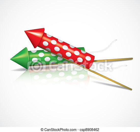 Firework rockets - csp8908462
