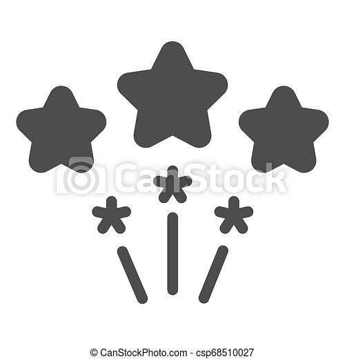 Firework solid icon. Stars firework vector illustration isolated on white. Celebration glyph style design, designed for web and app. Eps 10. - csp68510027