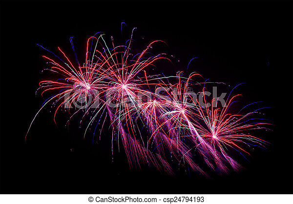 Fireworks at new years eve - csp24794193