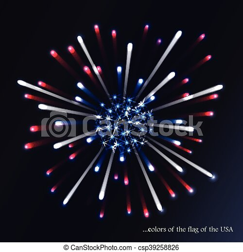 4th of july flag fireworks