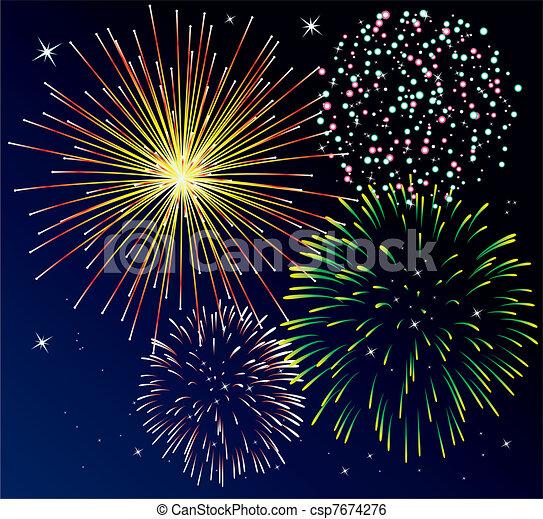 fireworks - csp7674276