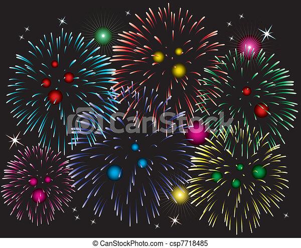 fireworks - csp7718485
