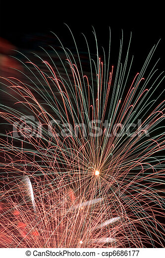 Fireworks Display - csp6686177