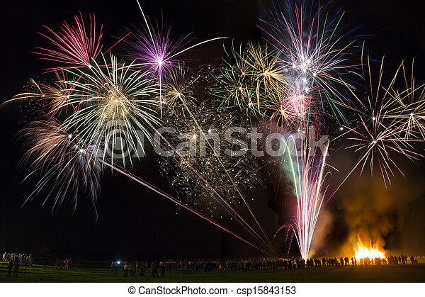 Fireworks Display - csp15843153