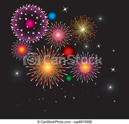 fireworks - csp6915698