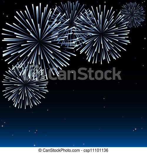 Fireworks - csp11101136