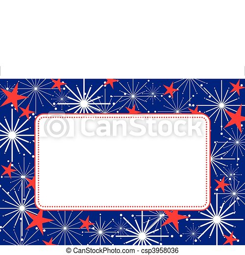 Fireworks Frame - csp3958036