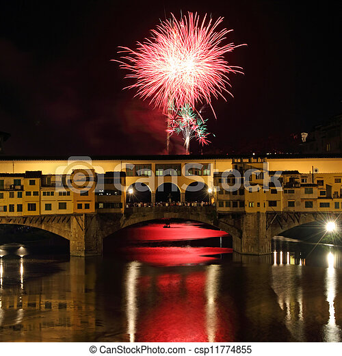 Fireworks in Florence - csp11774855