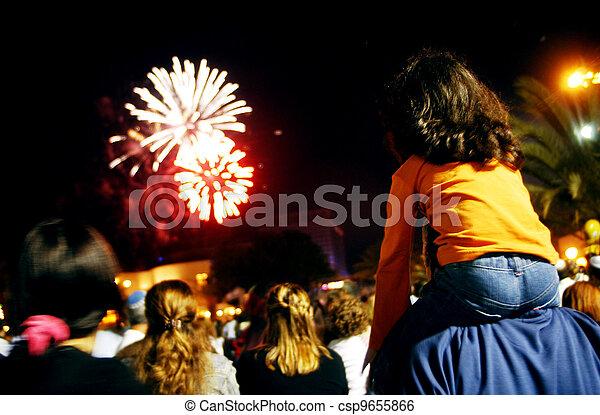 Fireworks Show  - csp9655866