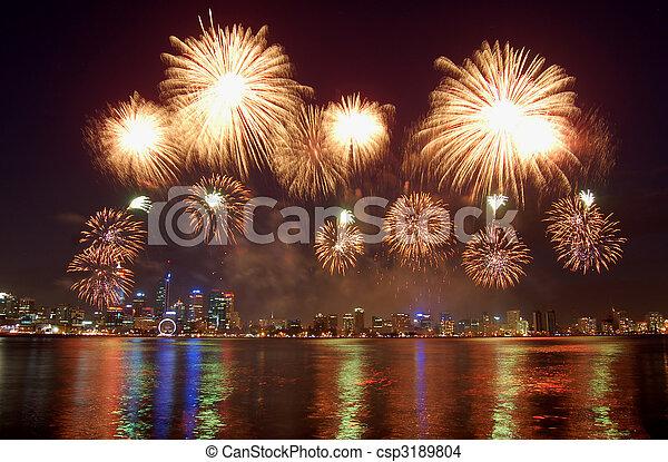 fireworks - csp3189804