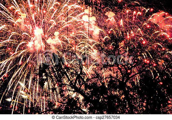 Fireworks - csp27657034