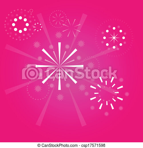 Fireworks vector background - csp17571598