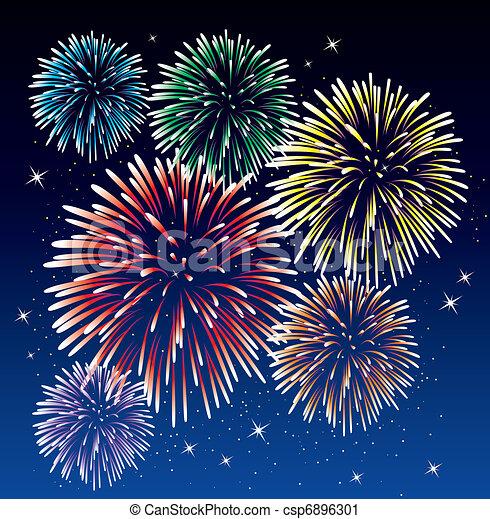 fireworks - csp6896301
