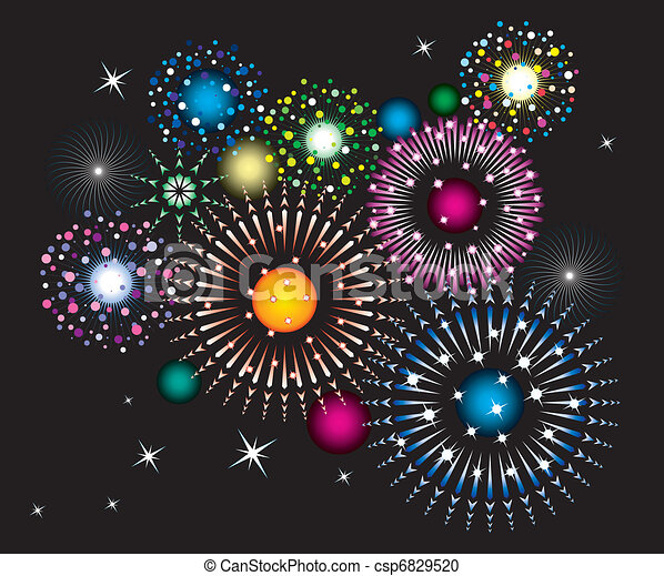 fireworks - csp6829520