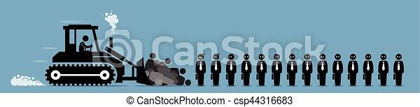 firma, arbeiter, entlassungen, arbeit, einschränkung, cut. - csp44316683