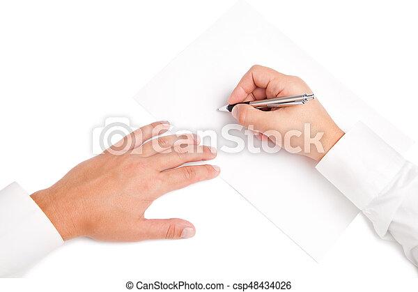 Firma Blanco Trabajador Contrato Empresa Negocio Firma Trato