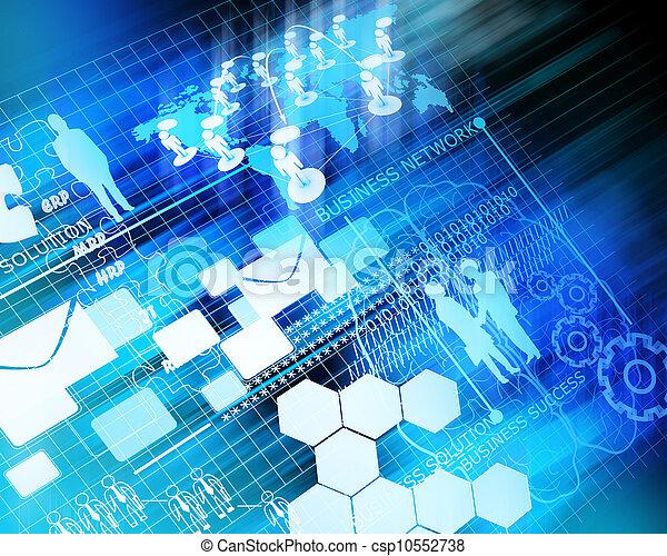 firma, fremtid, netværk, baggrund - csp10552738