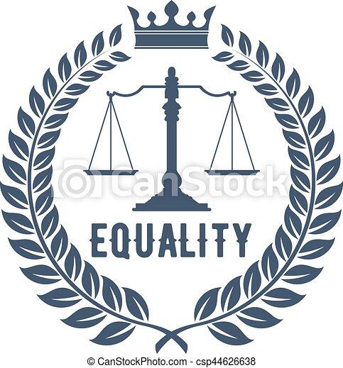 El símbolo de la firma legal con escalas de justicia - csp44626638