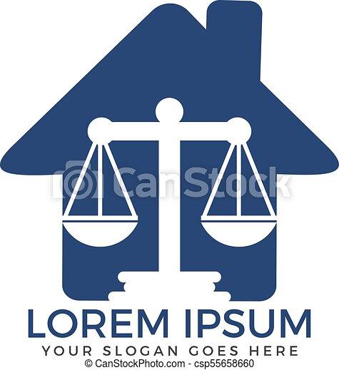 Diseño de logo de la firma de abogados. - csp55658660