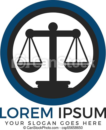 Diseño de logo de la firma de abogados. - csp55658650