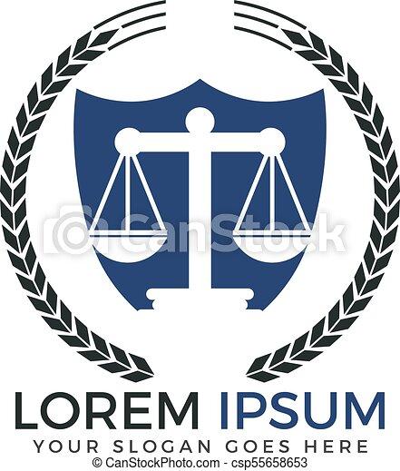 Diseño de logo de la firma de abogados. - csp55658653