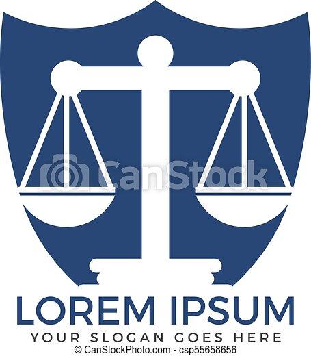 Diseño de logo de la firma de abogados. - csp55658656