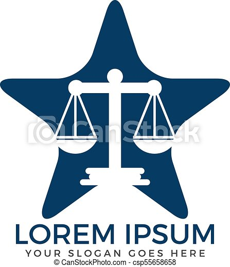 Diseño de logo de la firma de abogados. - csp55658658