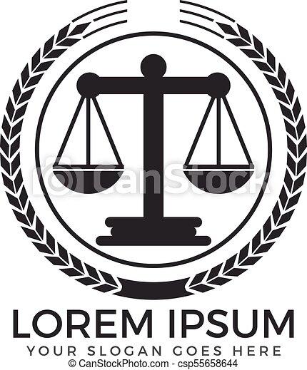 Diseño de logo de la firma de abogados. - csp55658644