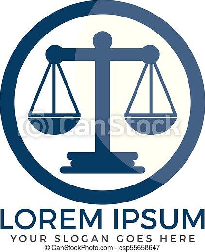 Diseño de logo de la firma de abogados. - csp55658647