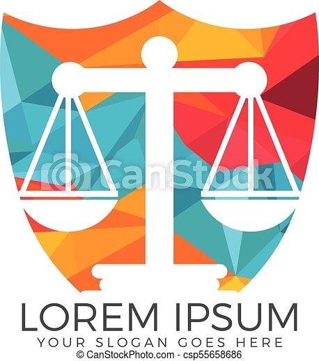 Diseño de logo de la firma de abogados. - csp55658686