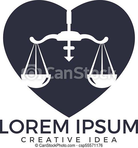 Diseño de logo de la firma de abogados. - csp55571176