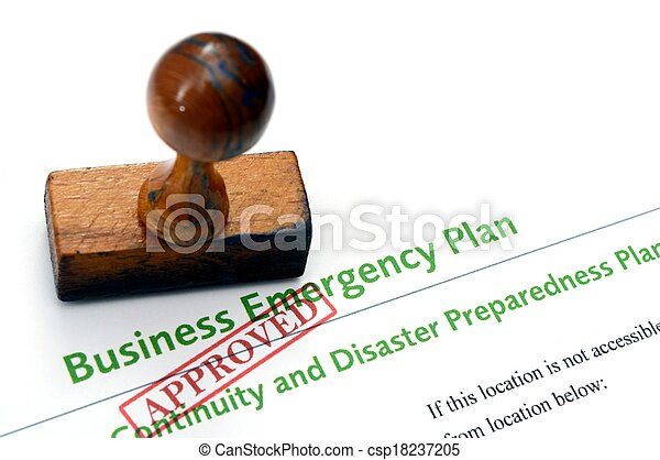 firma, nødsituation, plan - csp18237205
