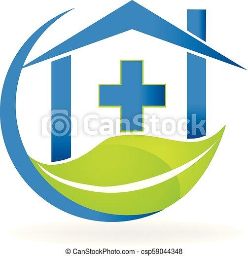 firma, natur, symbol, klinik, vektor, logo, medicinsk - csp59044348