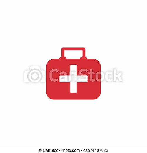 First aid bag icon - csp74407623