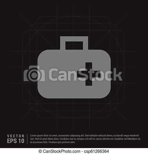 First aid kit icon - csp61266364