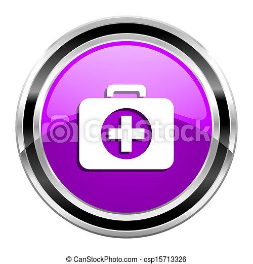 first aid kit icon - csp15713326