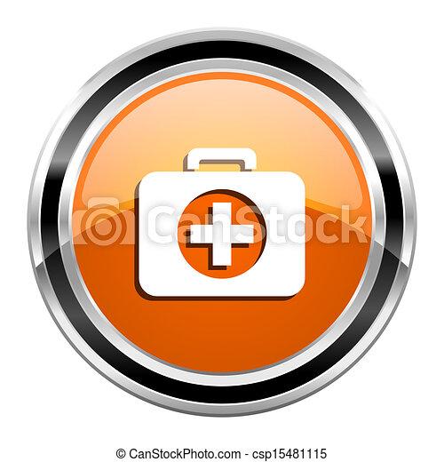 first aid kit icon - csp15481115