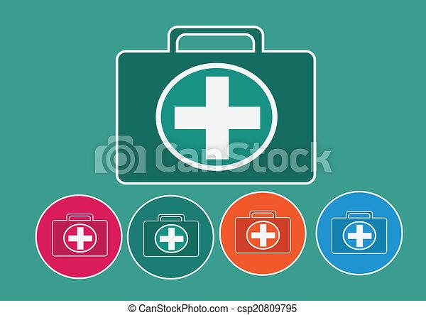 First aid kit icon - csp20809795