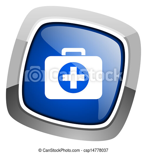 first aid kit icon - csp14778037