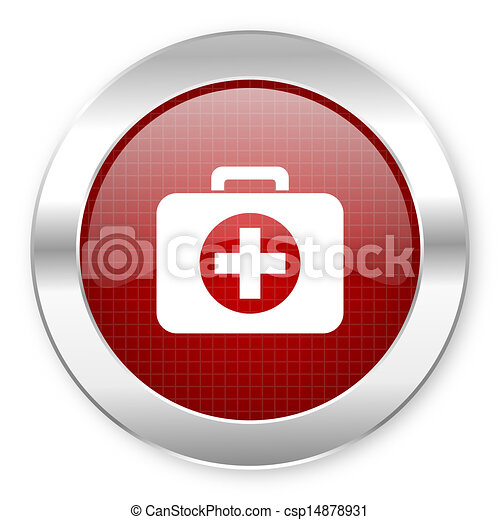 first aid kit icon - csp14878931
