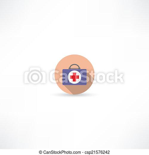 first aid kit icon - csp21576242
