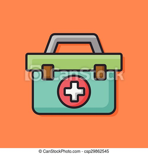 First aid kit icon - csp29862545
