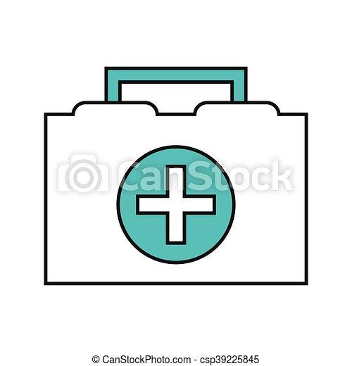 first aid kit icon - csp39225845