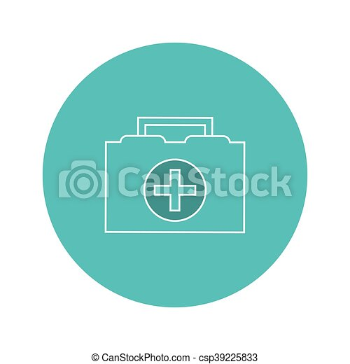 first aid kit icon - csp39225833
