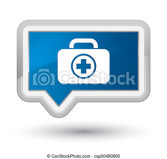 First aid kit icon prime blue banner button - csp50480800