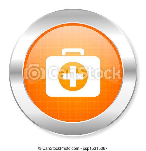 first aid kit icon - csp15315867