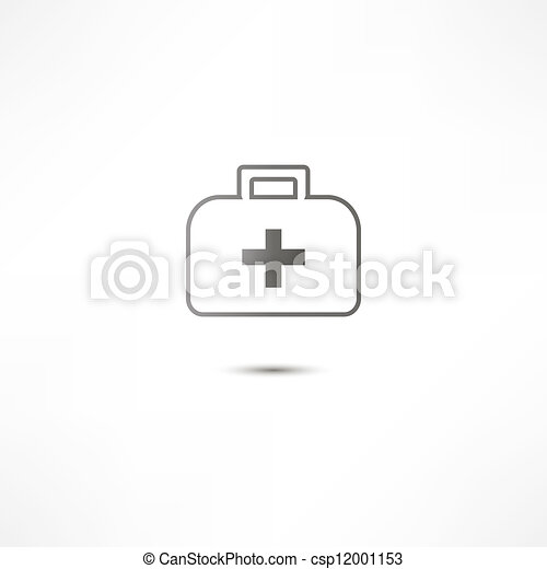 First Aid Kit Icon - csp12001153