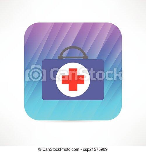 first aid kit icon - csp21575909