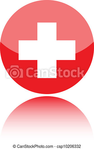 First aid medical sign - csp10206332